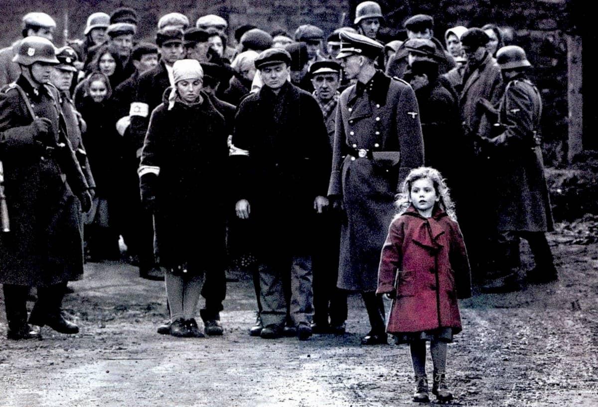 Niña del vestido rojo lista Schindler